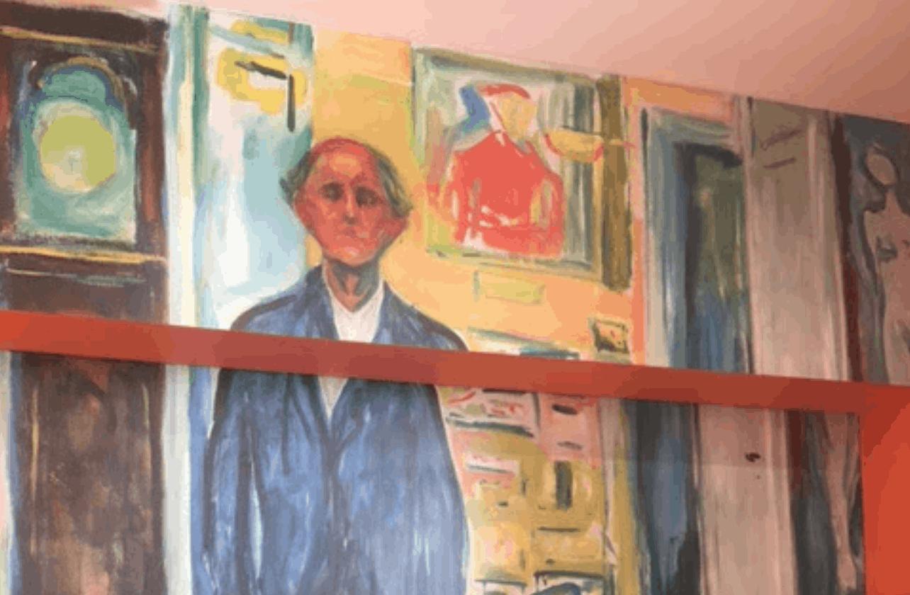 Edvard Munch Wall Graphic at SFMoMA